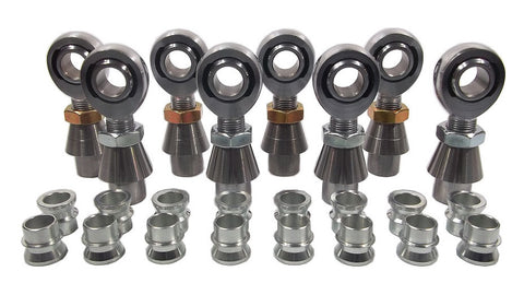 3/4 x 3/4-16 Chromoly 4 Link Kit With 3/4 To 5/8 High Misalignment Spacers, Weld-In Bungs .250 & Jam Nuts