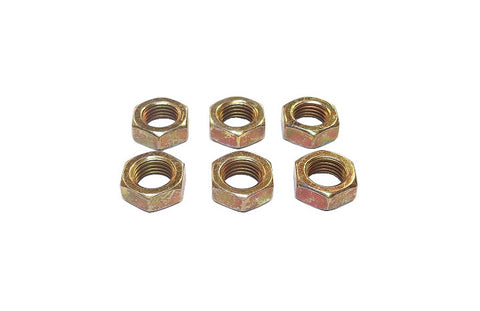 3/8-24 Steel Left Hand Jam Nuts (6 Pack)