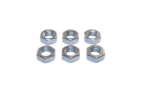 3/8-24 Steel Right Hand Jam Nuts (6 Pack)