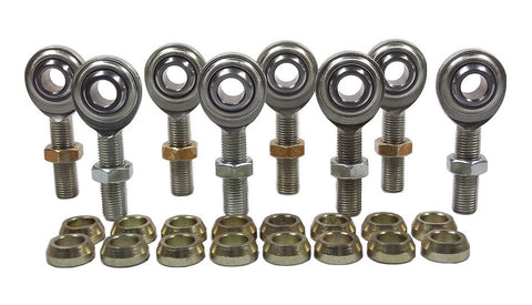3/8 x 3/8-24 Economy 4 Link Kit With 3/8 Steel Cone Spacers & Jam Nuts
