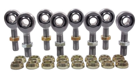 3/8 x 3/8-24 Chromoly 4 Link Kit With 3/8 Steel Cone Spacers & Jam Nuts