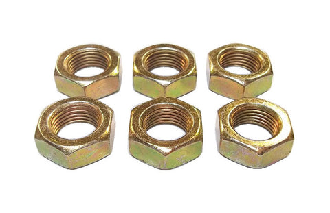 5/8-18 Steel Left Hand Jam Nuts (6 Pack)