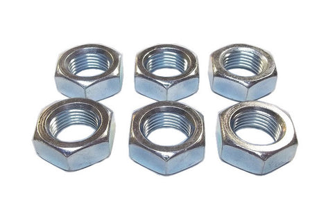 5/8-18 Steel Right Hand Jam Nuts (6 Pack)