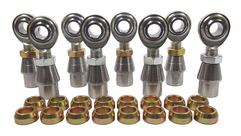 5/8 x 5/8-18 Economy 4 Link Kit With 5/8 Steel Cone Spacers, Weld-In Bungs .120 & Jam Nuts
