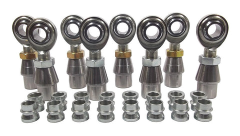 5/8 x 5/8-18 Economy 4 Link Kit With 5/8 To 1/2 High Misalignment Spacers, Weld-In Bungs .095 & Jam Nuts