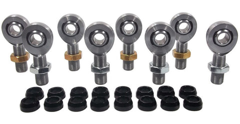 1/2 x 3/4-16 Chromoly 4 Link Kit With 1/2 Aluminum Cone Spacers & Jam Nuts