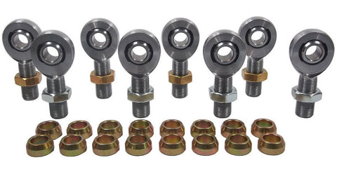 1/2 x 3/4-16 Chromoly 4 Link Kit With 1/2 Steel Cone Spacers & Jam Nuts