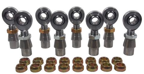 5/8 x 3/4-16 Chromoly 4 Link Kit With 5/8 Steel Cone Spacers, Weld-In Bungs .120 & Jam Nuts