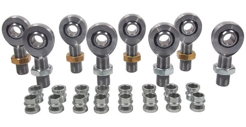 1/2 x 3/4-16 Chromoly 4 Link Kit With 1/2 To 3/8 High Misalignment Spacers & Jam Nuts