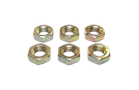 7/16-20 Steel Left Hand Jam Nuts (6 Pack)