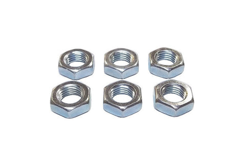 7/16-20 Steel Right Hand Jam Nuts (6 Pack)