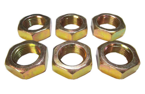 7/8-14 Steel Left Hand Jam Nuts (6 Pack)