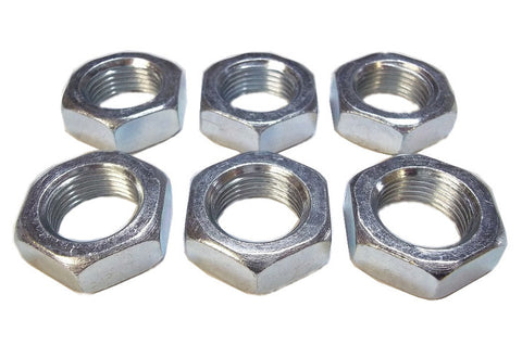 7/8-14 Steel Right Hand Jam Nuts (6 Pack)