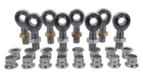 7/8 x 7/8-14 Chromoly 4 Link Kit With 7/8 To 3/4 High Misalignment Spacers, & Jam Nuts