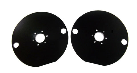 Go Kart / Quarter Midget Toe Plates Powder Coated Black