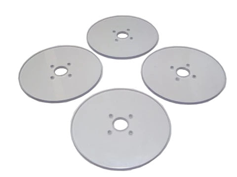 Quarter Scale Car Round Lexan Toe Plate Set (Sold In Sets Of 4)