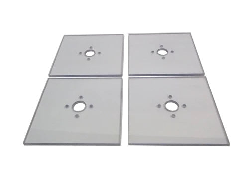 Quarter Scale Car Square Lexan Toe Plate Set (Sold In Sets Of 4)