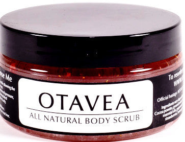 Otavea all natural Strawberry body scrub 8oz