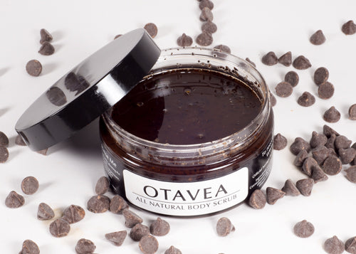 Otavea all natural chocolate coffee body scrub