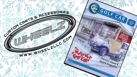 Golf Car Options Magazine Features WHEELZ' Holiday Gift List