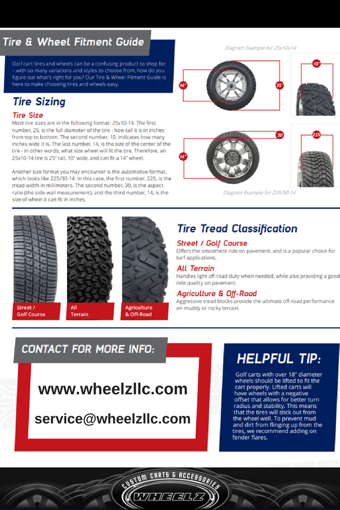 Buying Golf Cart Tires: An Owner's Guide on golf cart tire tread, golf cart tire pressure, golf cart tire sizes, golf cart tire outlet,