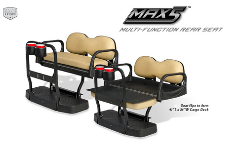 Doubletake Max5 Multi-Function Golf Cart Rear Seat Kit