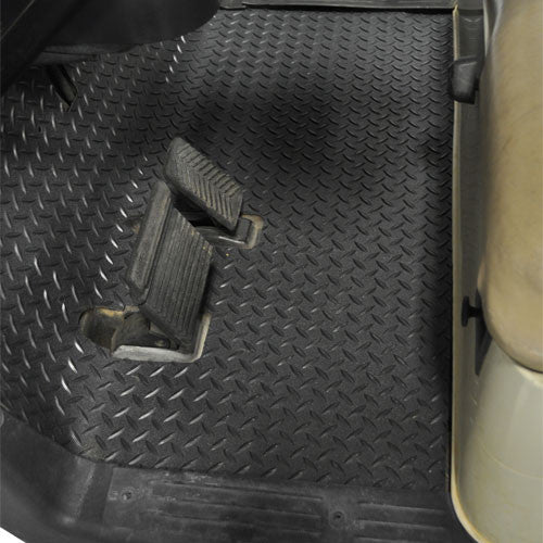 Golf Cart Replacement Diamond Plated Rubber Floormat - WHEELZ Custom Carts & Accessories  - 1
