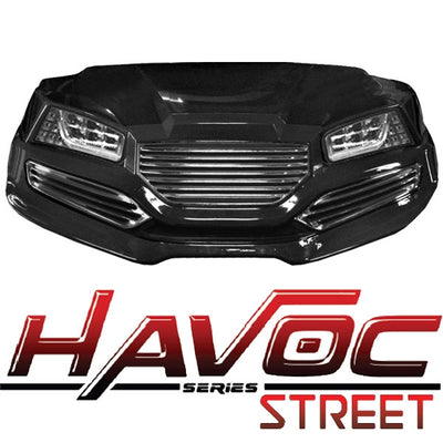 Yamaha G29 DRIVE Golf Cart Havoc Street Front Cowl Kit with LED Lights
