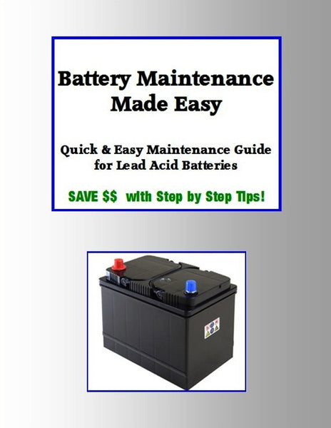 Lead Acid Battery Maintenance Made Easy EBook - WHEELZ Custom Carts & Accessories