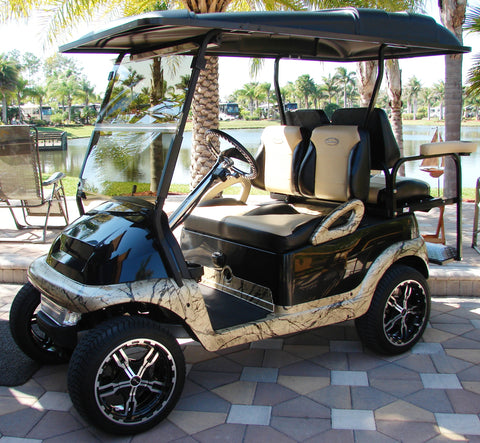 Club Car 2009+ Precedent Golf Cart Custom Two Toned Suite / Bucket Seats - WHEELZ Custom Carts & Accessories  - 1
