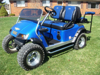 EZGO TXT Golf Cart 2014+ Custom Two Toned Suite / Bucket Seats - WHEELZ Custom Carts & Accessories  - 1