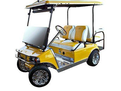 Club Car New Style DS Golf Cart Custom Two Toned Suite / Bucket Seats - WHEELZ Custom Carts & Accessories  - 1
