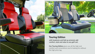 EZGO RXV Golf Cart Custom Touring Seat Cushions