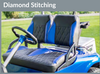 Club Car Precedent 2010+ Golf Cart Custom Touring Diamond Stitched Seat Cushions