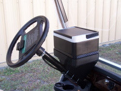 Universal Golf Cart Igloo Legend Cooler with Steering Column Mounted Tray - WHEELZ Custom Carts & Accessories  - 1