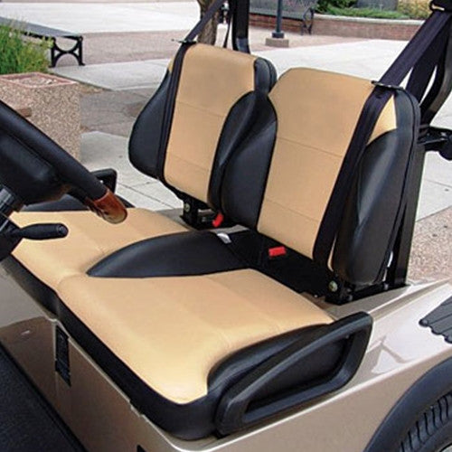 EZGO RXV Golf Cart Custom Two Toned Suite Seats