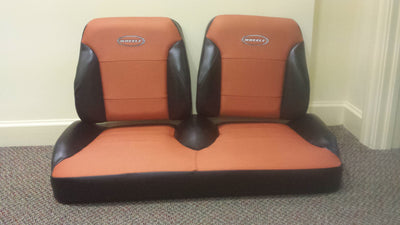 Club Car New Style DS Golf Cart Custom Two Toned Suite Seats
