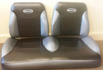 EZGO RXV Golf Cart Custom Two Toned Suite / Bucket Seats - WHEELZ Custom Carts & Accessories  - 3