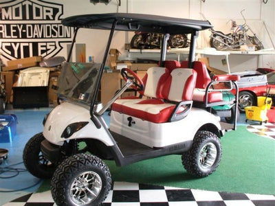 Yamaha DRIVE Golf Cart Custom Two Toned Suite / Bucket Seats - WHEELZ Custom Carts & Accessories  - 1