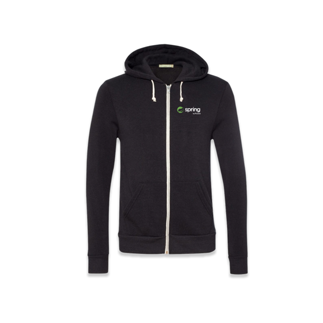 Spring Zippered Hooded Sweatshirt - Men's
