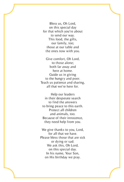 A christmas prayer original poem in a pack of 10 greeting cards in a christmas prayer original poem in a pack of 10 greeting cards in red with gold bookmarktalkfo Choice Image