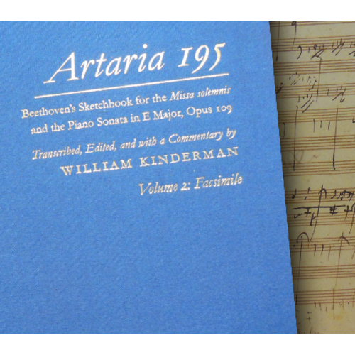 Artaria 195: Beethoven's Sketchbook for the Missa solemnis and the Piano Sonata in E Major, Opus 109 (3 vols.) (Beethoven Sketchbook Series)