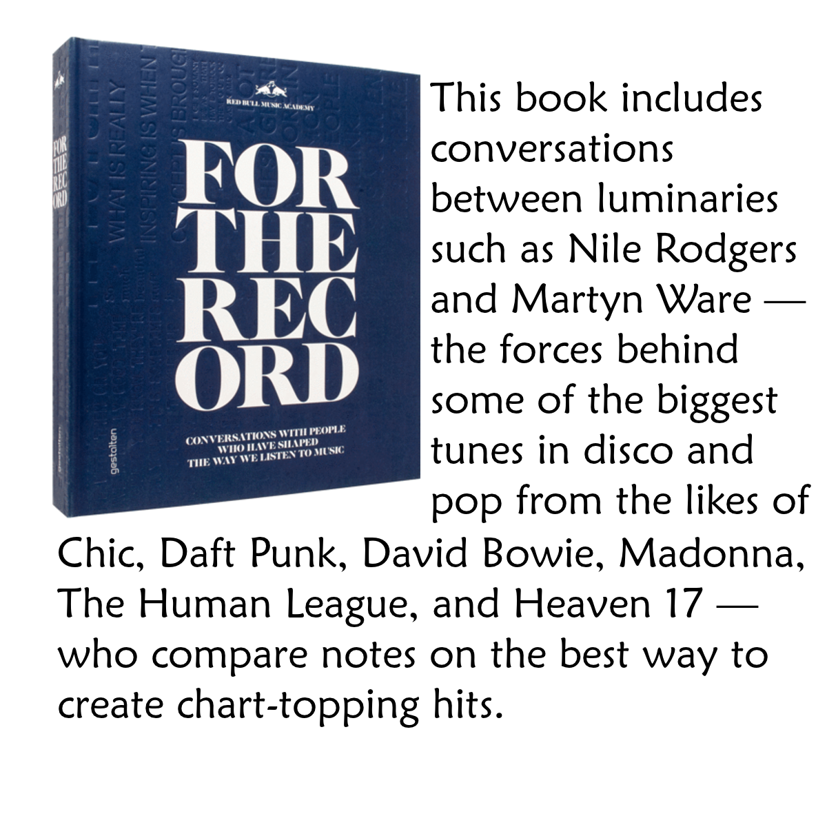 For the Record: Conversations with People Who Have Shaped the Way We Listen to Music