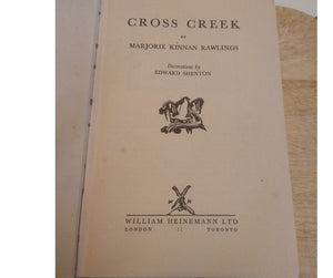 Cross Creek, by Marjorie Kinnan Rawlings