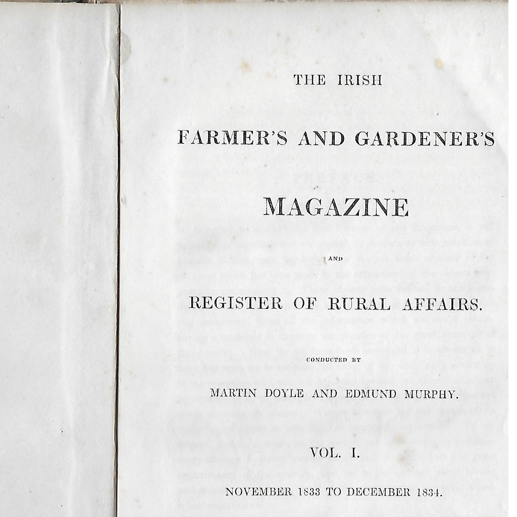 Irish Farmer's and Gardener's Magazine and Register of Rural Affairs
