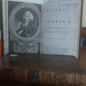 The History of America   by William ROBERTSON:  Vol 1 and Vol 2