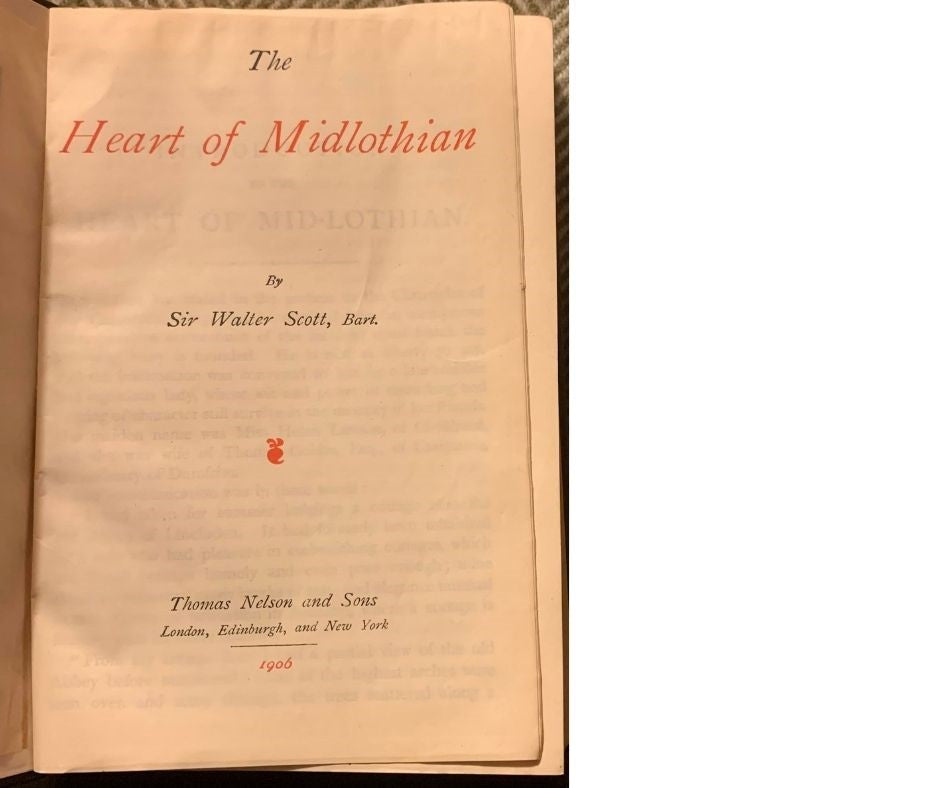 The Heart of Midlothian, by Sir Walter Scott