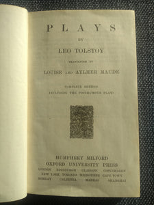 Plays by Leo Tolstoy, translated by Louise and Aylmer Maude