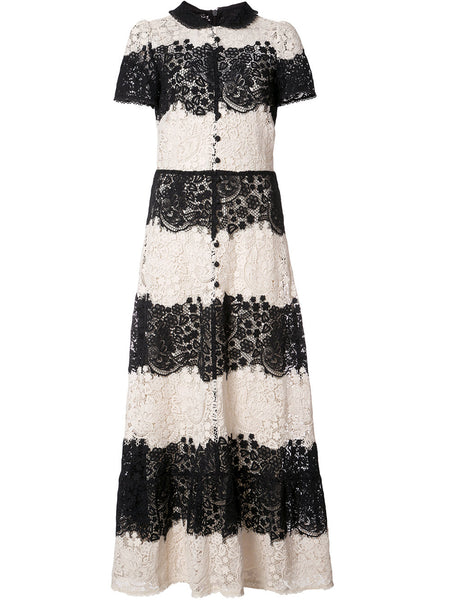 buttoned lace dress