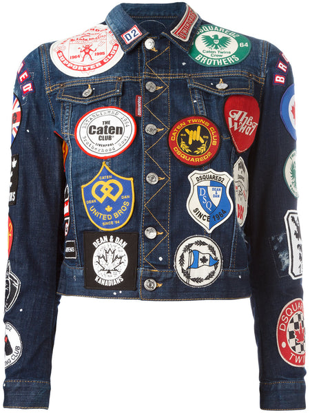 patch appliqué denim jacket